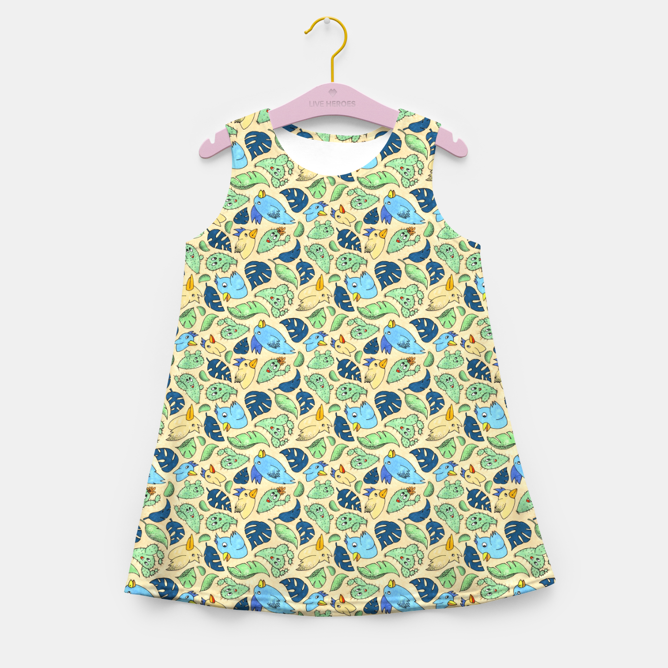 Image of Birds and Plants – Girl's summer dress - Live Heroes