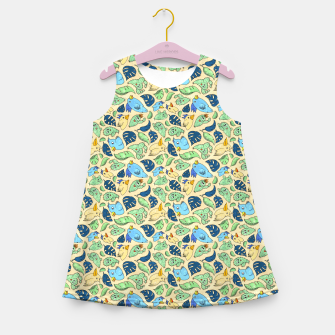 Birds and Plants – Girl's summer dress thumbnail image