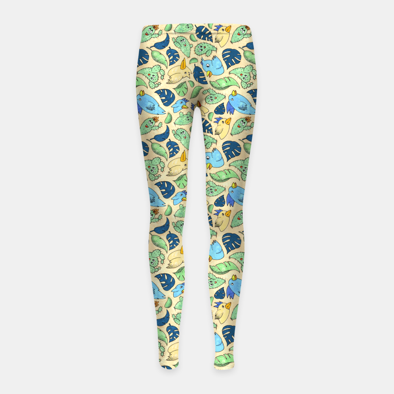Image of Birds and Plants – Girl's leggings - Live Heroes