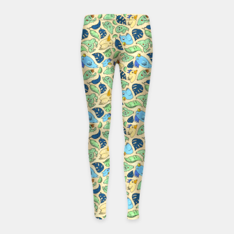 Thumbnail image of Birds and Plants – Girl's leggings, Live Heroes