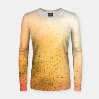 Thumbnail image of Living Coral and Yellow Spray Paint Women sweater, Live Heroes