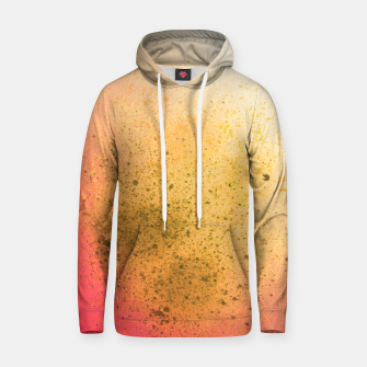 Thumbnail image of Living Coral and Yellow Spray Paint Hoodie, Live Heroes