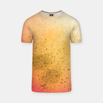 Thumbnail image of Living Coral and Yellow Spray Paint T-shirt, Live Heroes