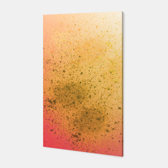 Thumbnail image of Living Coral and Yellow Spray Paint Canvas, Live Heroes