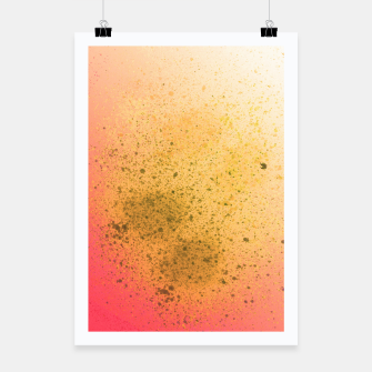 Thumbnail image of Living Coral and Yellow Spray Paint Poster, Live Heroes