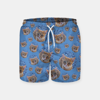 Thumbnail image of Give me love - pattern Swim Shorts, Live Heroes