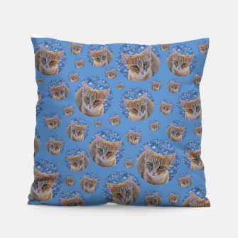 Thumbnail image of Give me love - pattern Pillow, Live Heroes