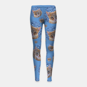 Thumbnail image of Give me love - pattern Girl's leggings, Live Heroes
