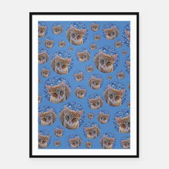 Thumbnail image of Give me love - pattern Framed poster, Live Heroes