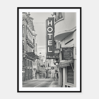 Thumbnail image of Ciudad Vieja District, Montevideo, Uruguay Framed poster, Live Heroes