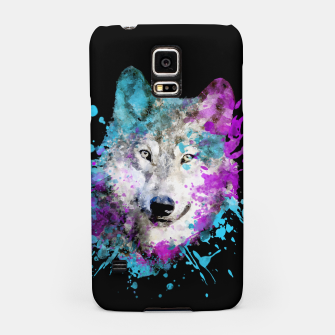 Thumbnail image of Wolf Watercolor Splash Animal Wildlife Artsy Samsung Case, Live Heroes