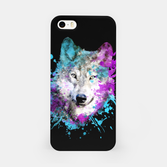 Thumbnail image of Wolf Watercolor Splash Animal Wildlife Artsy iPhone Case, Live Heroes