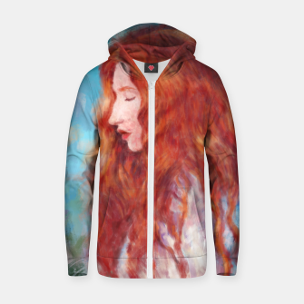 Thumbnail image of Kissed By Fire Zip up hoodie, Live Heroes