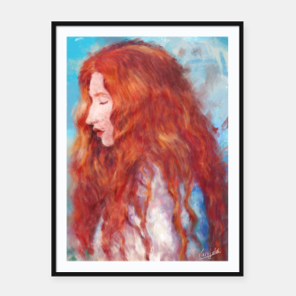 Thumbnail image of Kissed By Fire Framed poster, Live Heroes
