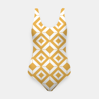 Thumbnail image of Abstract geometric pattern - bronze and white. Swimsuit, Live Heroes