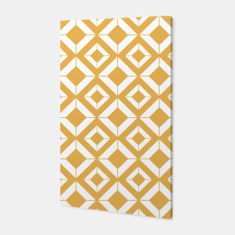 Miniaturka Abstract geometric pattern - bronze and white. Canvas, Live Heroes