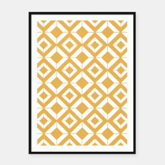 Miniaturka Abstract geometric pattern - bronze and white. Framed poster, Live Heroes