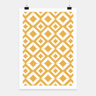 Miniaturka Abstract geometric pattern - bronze and white. Poster, Live Heroes