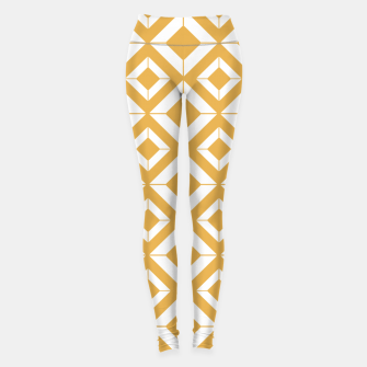 Miniaturka Abstract geometric pattern - bronze and white. Leggings, Live Heroes