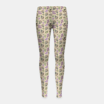 Miniaturka Winter Foliage Girl's leggings, Live Heroes