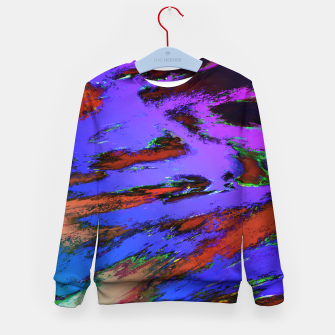 Thumbnail image of Thinking skies blue Kid's sweater, Live Heroes