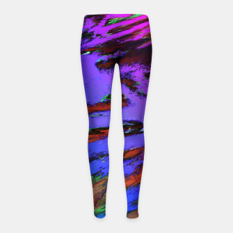 Thinking skies blue Girl's leggings obraz miniatury