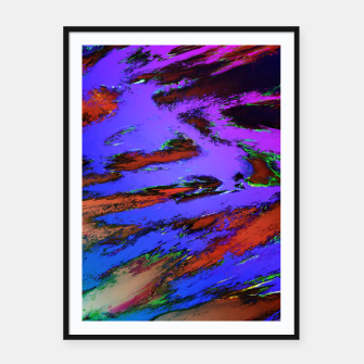 Thinking skies blue Framed poster obraz miniatury