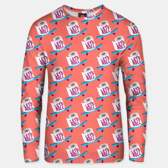 Miniature de image de Let's Roll! / Living Coral / seamless pattern. Unisex sweater, Live Heroes