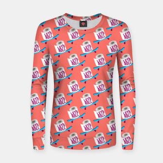 Miniature de image de Let's Roll! / Living Coral / seamless pattern. Women sweater, Live Heroes
