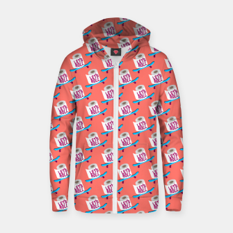 Miniature de image de Let's Roll! / Living Coral / seamless pattern. Zip up hoodie, Live Heroes