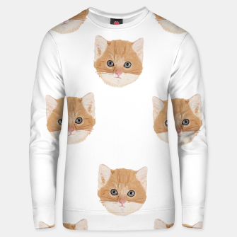 Thumbnail image of Cute yellow cat head pattern Unisex sweater, Live Heroes