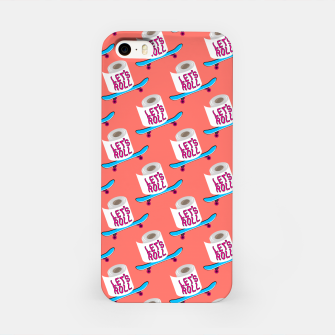 Miniature de image de Let's Roll! / Living Coral / seamless pattern. iPhone Case, Live Heroes