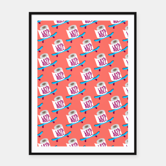 Miniature de image de Let's Roll! / Living Coral / seamless pattern. Framed poster, Live Heroes