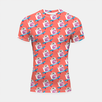 Miniature de image de Let's Roll! / Living Coral / seamless pattern. Shortsleeve rashguard, Live Heroes