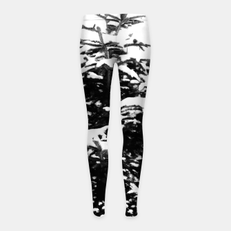Miniatur Fir Tree Covered With Snow Girl's leggings, Live Heroes