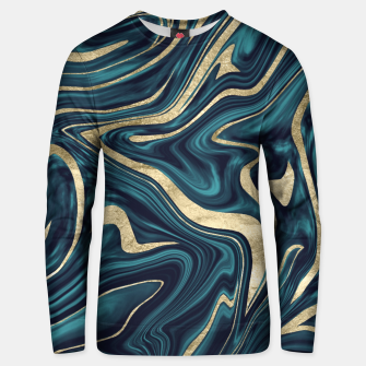 Thumbnail image of Teal Navy Blue Gold Marble #1 #decor #art  Unisex sweatshirt, Live Heroes
