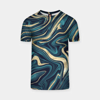 Miniature de image de Teal Navy Blue Gold Marble #1 #decor #art  T-Shirt, Live Heroes