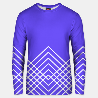 Miniaturka Abstract geometric pattern - blue and white. Unisex sweater, Live Heroes