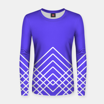 Miniaturka Abstract geometric pattern - blue and white. Women sweater, Live Heroes
