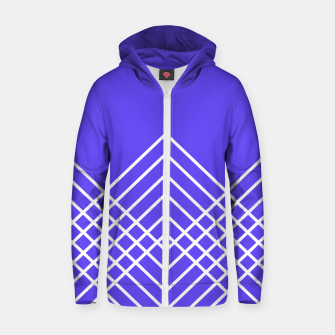 Miniaturka Abstract geometric pattern - blue and white. Zip up hoodie, Live Heroes