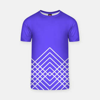 Miniaturka Abstract geometric pattern - blue and white. T-shirt, Live Heroes