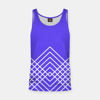 Miniaturka Abstract geometric pattern - blue and white. Tank Top, Live Heroes