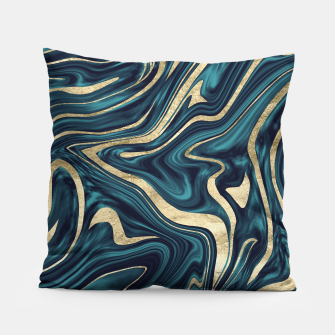 Miniature de image de Teal Navy Blue Gold Marble #1 #decor #art  Kissen, Live Heroes