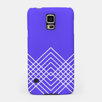 Miniaturka Abstract geometric pattern - blue and white. Samsung Case, Live Heroes