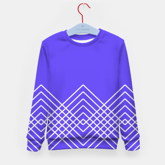 Miniaturka Abstract geometric pattern - blue and white. Kid's sweater, Live Heroes