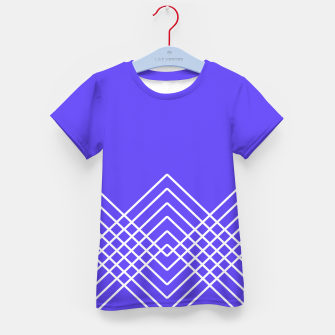 Miniaturka Abstract geometric pattern - blue and white. Kid's t-shirt, Live Heroes