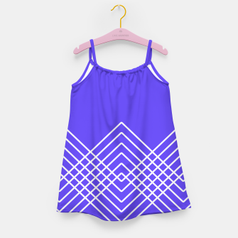 Miniaturka Abstract geometric pattern - blue and white. Girl's dress, Live Heroes