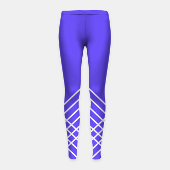 Miniaturka Abstract geometric pattern - blue and white. Girl's leggings, Live Heroes