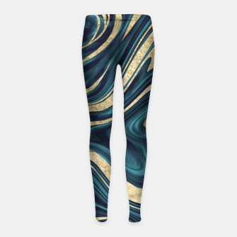 Miniature de image de Teal Navy Blue Gold Marble #1 #decor #art  Kinder-Leggins, Live Heroes