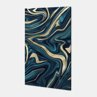 Miniature de image de Teal Navy Blue Gold Marble #1 #decor #art  Canvas, Live Heroes